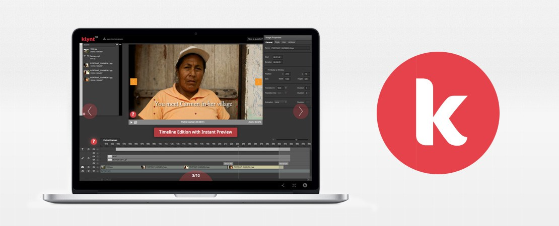 Klynt, LE logiciel de création de web documentaires interactifs multi-plateformes