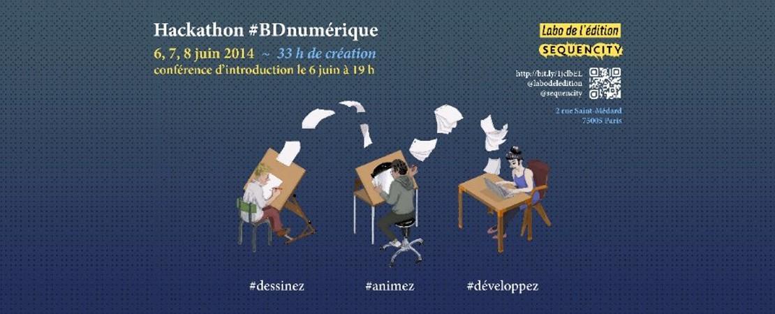 Hackathon #BDnumérique 6,7 et 8 juin 2014 au Labo de l'édition