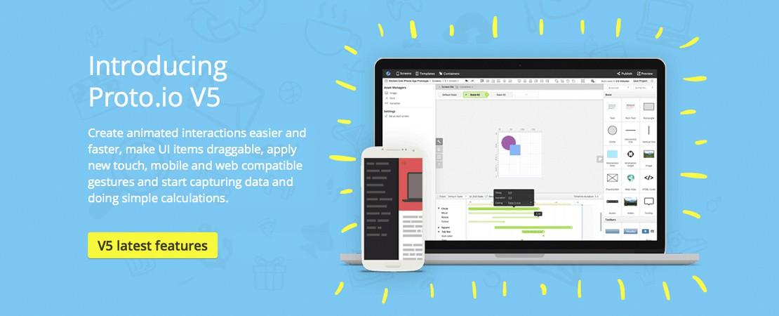 Des prototypes d'applications avec Proto.io