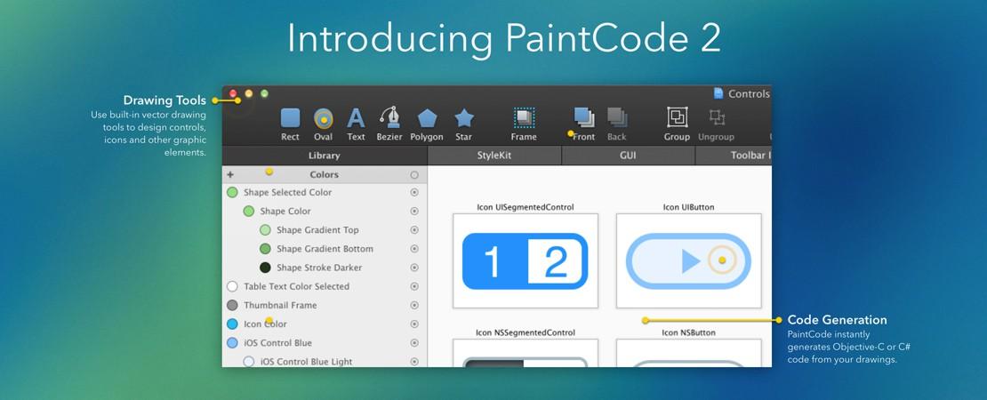 Paintcode, passe en version 2
