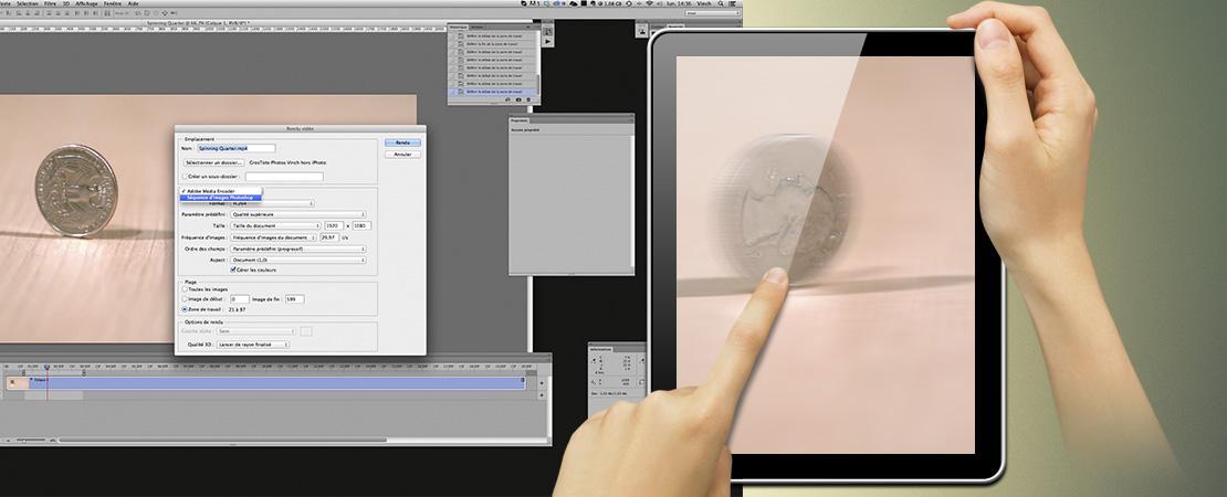 Intégrer une vidéo en suite d'image dans du digital Publishing (grâce à Photoshop)