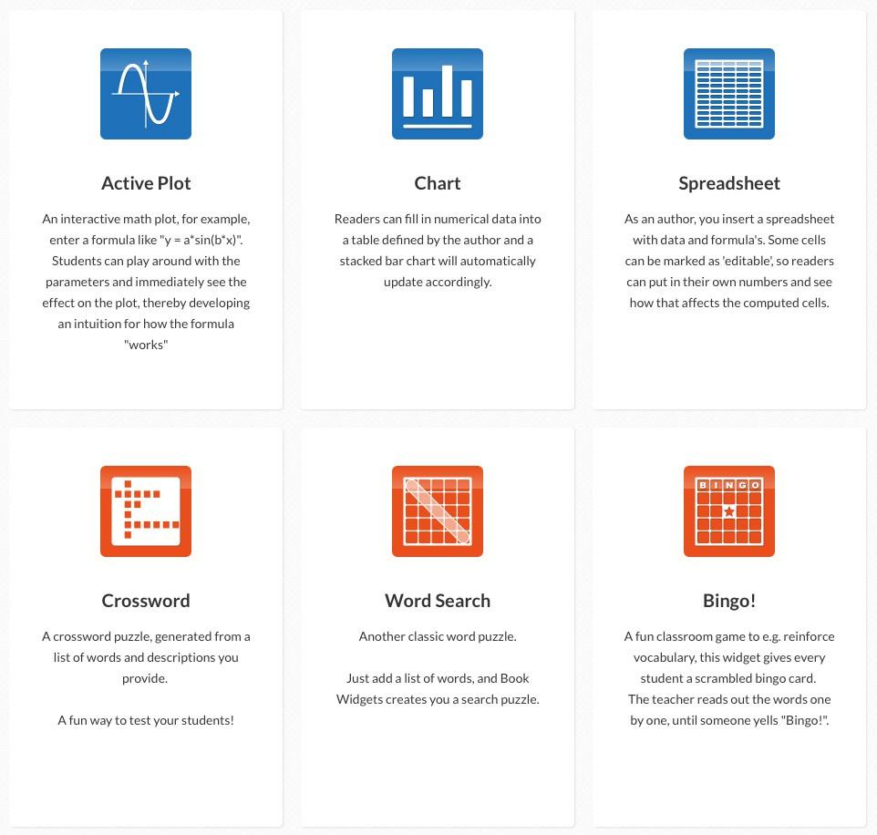 BookWidgets ajoute 5 nouveaux widgets pour iBooks Author