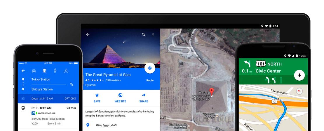 Google Map revêt Material Design sur iOS et Androïd