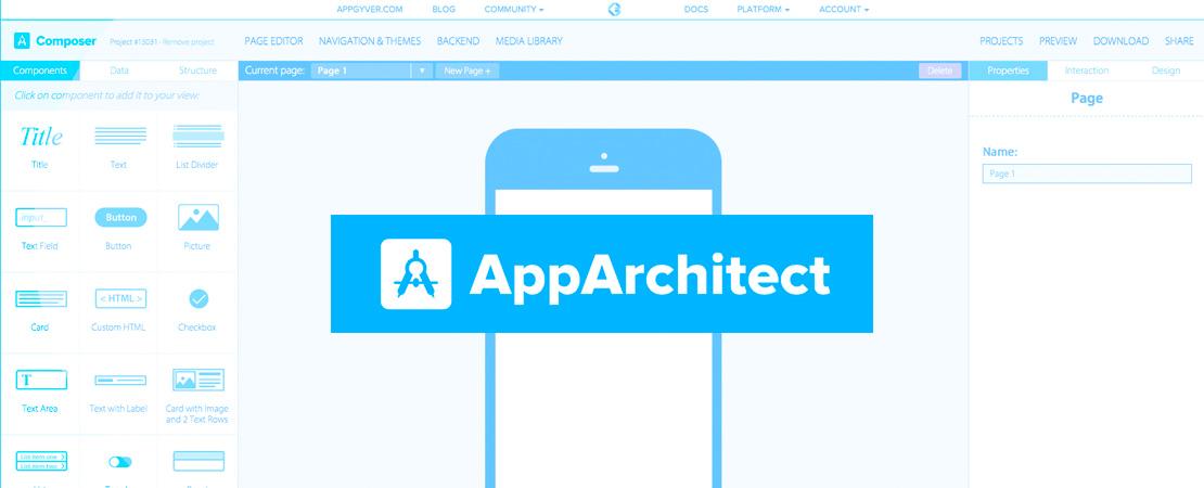 AppArchitect passe en version 2 et devient AppGyver Composer