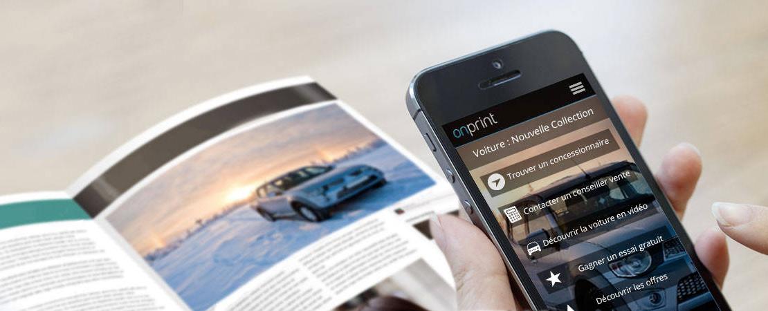Onprint relie le Print au Digital et offre 2 pages à connecter aux lecteurs d'ELECTIC news
