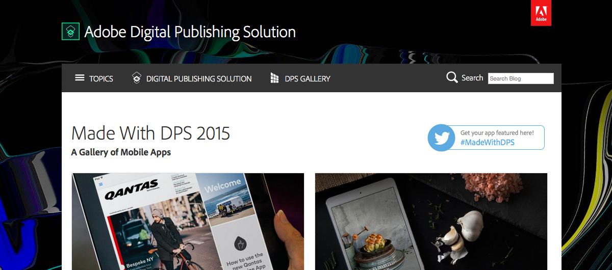 Adobe Made With DPS 2015 : des exemples d'applis faites avec le nouveau DPS