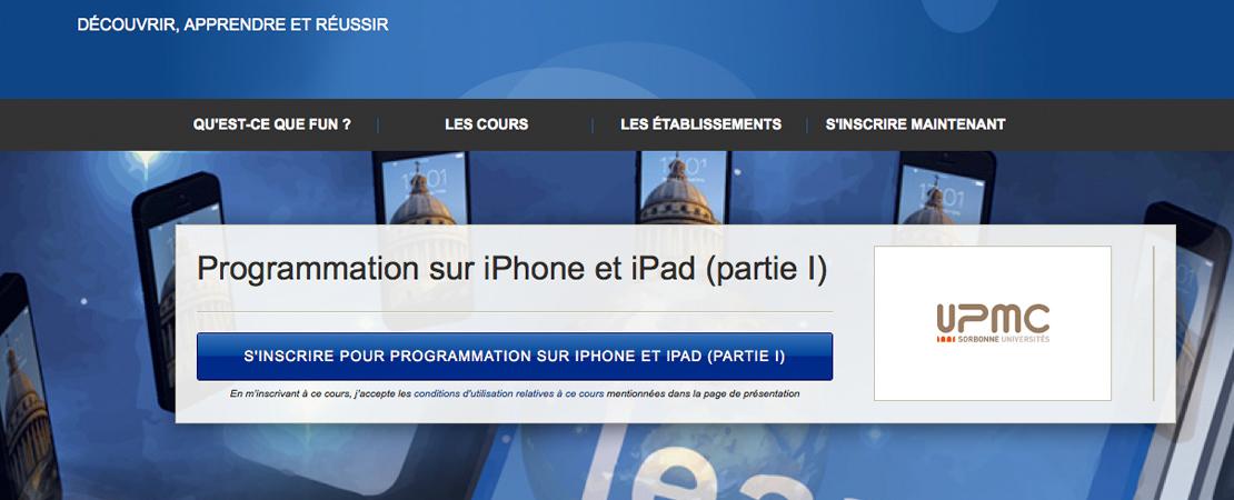 Des cours gratuits sur la programmation iPhone et iPad