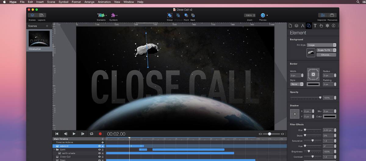 Hype, le logiciel d'animation HTML5 de Tumult, passe en version 3.5