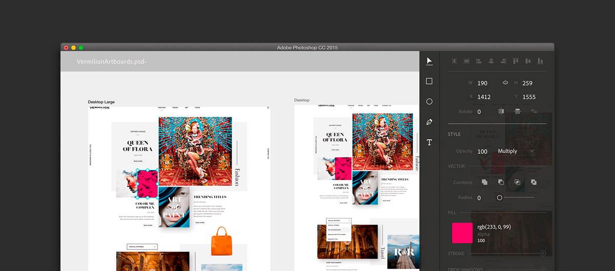 Un mode 'Design Space' dans Photoshop CC2015