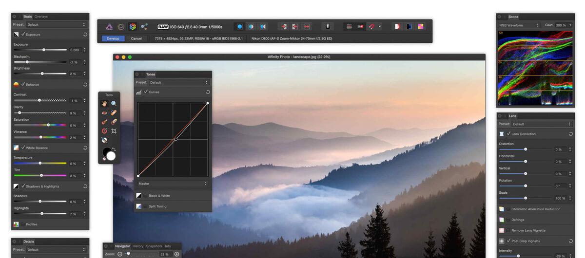 Affinity Photo & Affinity Designer, les 2 logiciels de Serif Labs, sont mis à jour en 1.4, ET SONT EN PROMO jusqu'au 16 décembre