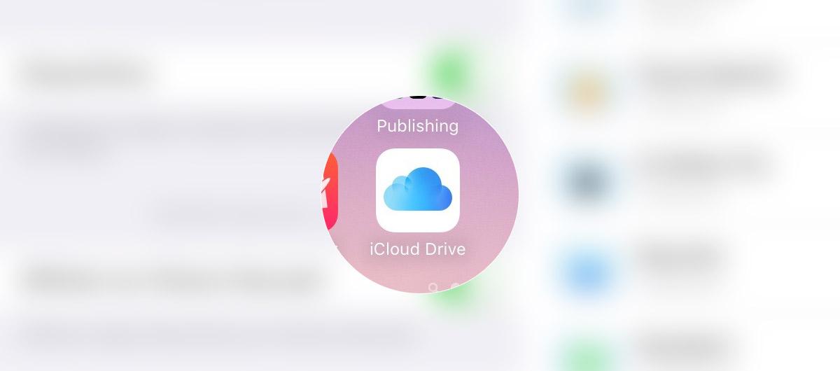 iOS9 beta : iCloud Drive devient une application autonome