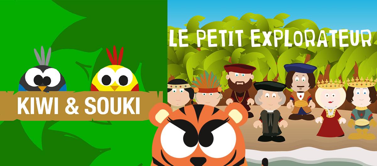 Kiwi et Souki, et le Petit Explorateur : découvrez 2 exemples réussis de développements Digital Publishing par les étudiants de l'école Esten Sup'Edition