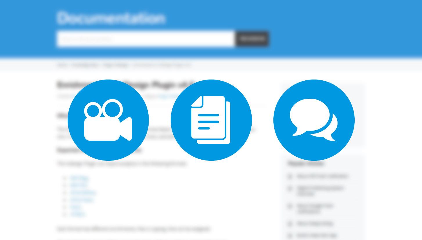 Les nouvelles pages documentation Aquafadas