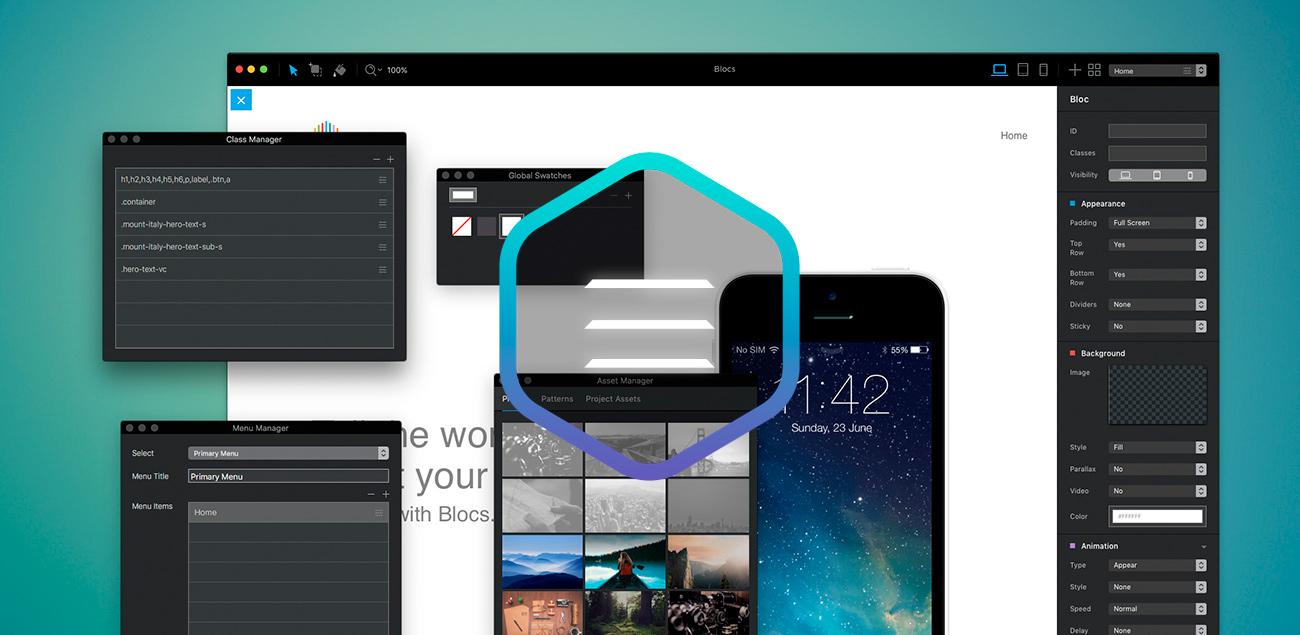 Blocs, l'éditeur de site WYSIWYG passe en version 2