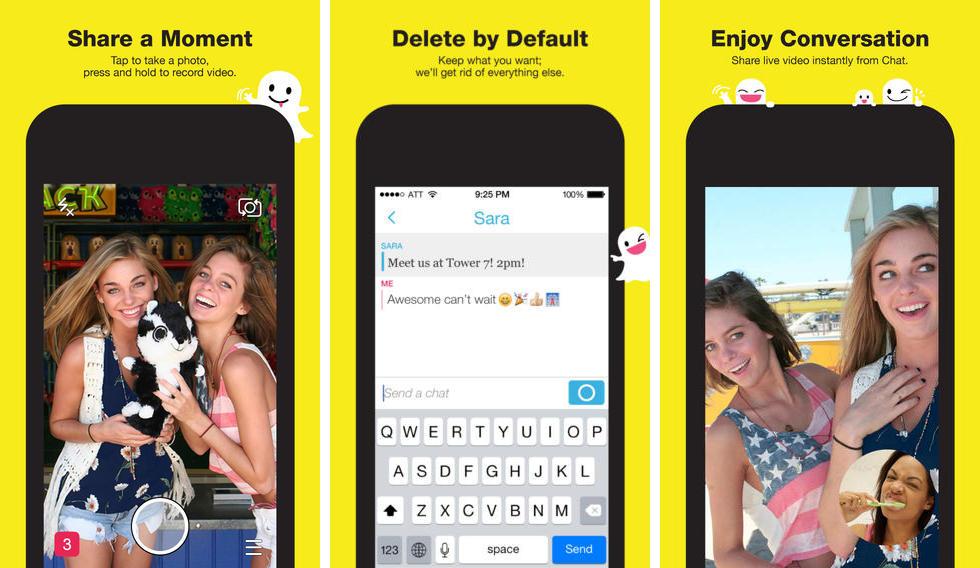 Snapchat, pour prendre des photos et des vidéos (verticales)