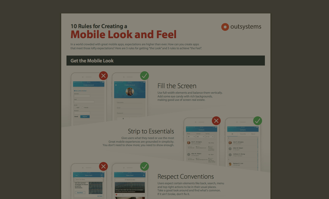 10 Rules for Creating a Mobile Look and Feel